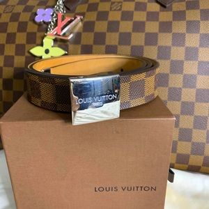 Louis vuitton damier ebene belt 85/34